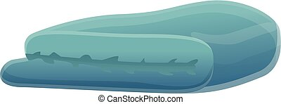 Blue blanket icon, cartoon style