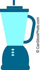 Blue blender, illustration, vector on white background.