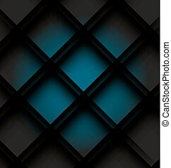 Blue Block Background - 3D Blue Block Background. Vector...