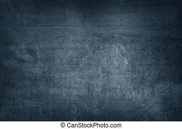 Blue block wall