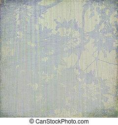 Blue blossom on cream background