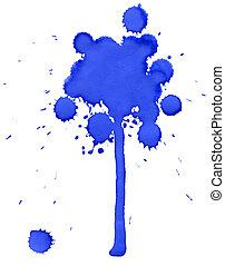 Blue blot tree