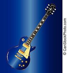 Blue Blues Guitar