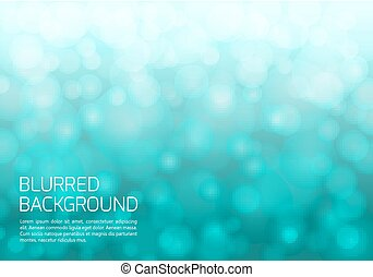 Blue blurred background with twinkly lights