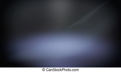 Blue blurred spotlight, dark abstract background