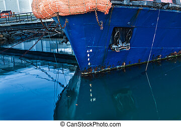 Blue Boat Bow