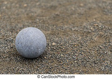 Blue Bocce Ball with Copy Space Right