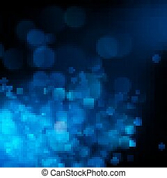 Blue bokeh abstract background. EPS 10