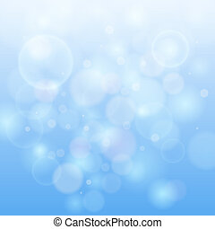 Blue bokeh abstract light background. Vector illustration...