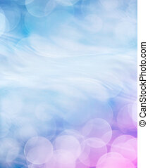 An abstract bokeh light background with a swirling motion effect and a subtle blue to magenta gradient.