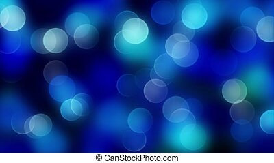blue bokeh background created by neon lights. 4K