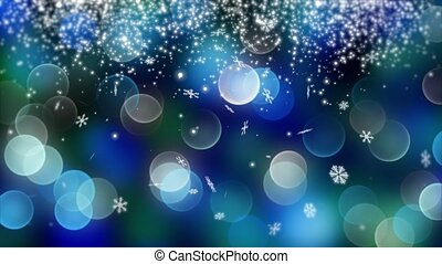 blue bokeh background created by neon lights. 4K - blue...