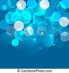 Blue bokeh background. Vector EPS10.