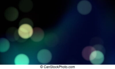 Blue bokeh loop