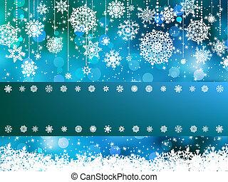 Blue bokeh of christmas lights. EPS 8