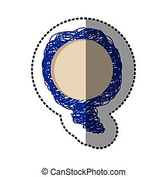 blue bolloons chat bubbles icon