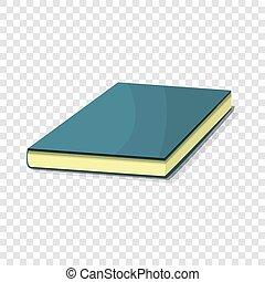 Blue book icon, cartoon style