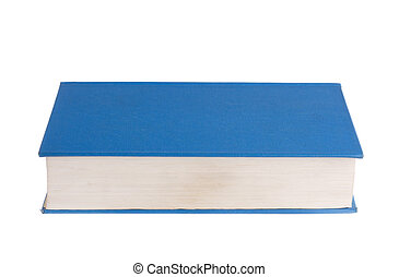 Blue book isolated on white background