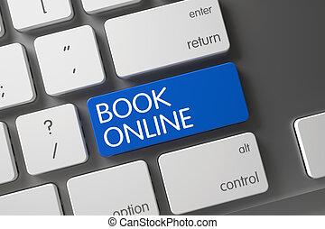 Blue Book Online Keypad on Keyboard. 3D.