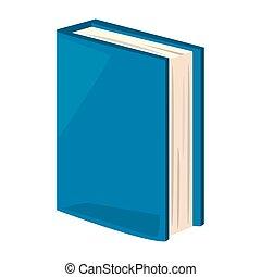 blue book school on white background