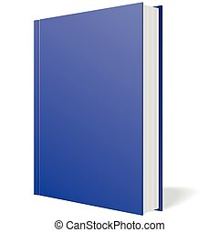 Blue book standing vector on white