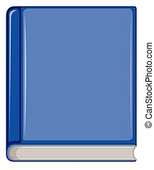 Blue book white object