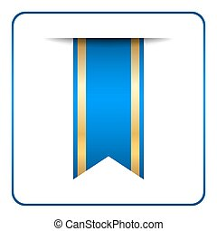 Blue bookmark banner - Blue and gold bookmark banner. ...