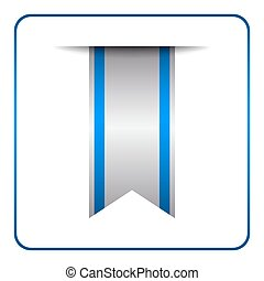 Blue bookmark banner isolated