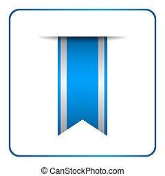 Blue bookmark banner