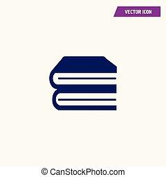 blue books vector icon