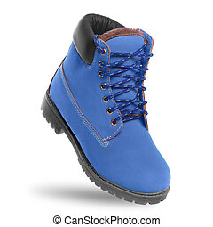 Blue boot. Angle view