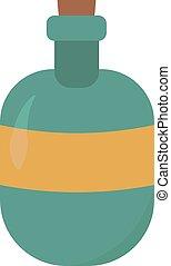 Blue bottle, illustration, vector on white background.