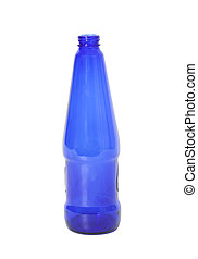 Blue Bottle Isolated on White Background