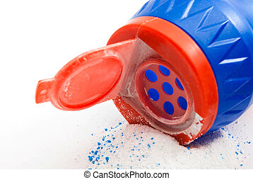 bottle with powder