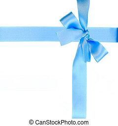 blue bow and ribbon