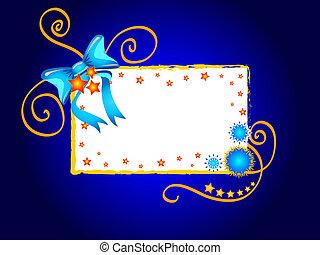 Blue bow design