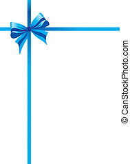 blue bow background