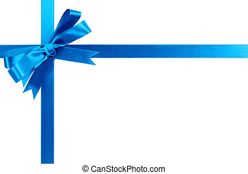 Blue bow gift ribbon