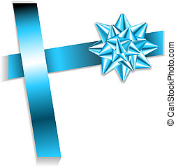 blue bow on a blue ribbon