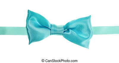 Blue bow tie isolated