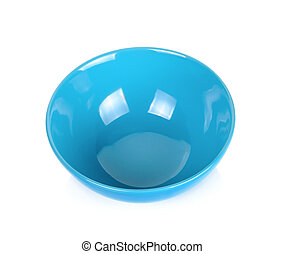 Blue bowl isolated on the white background