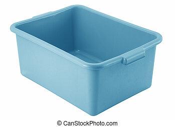 blue bowl isolated on white