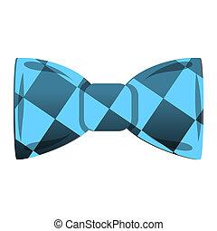 Blue bowtie icon, cartoon style