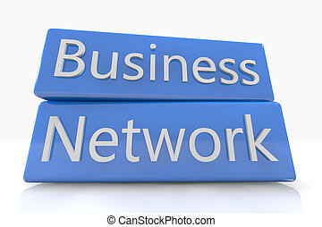Blue box Business Network - Blue box concept: Business...