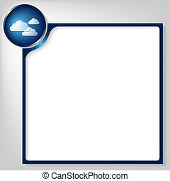 blue box for any text with white clouds