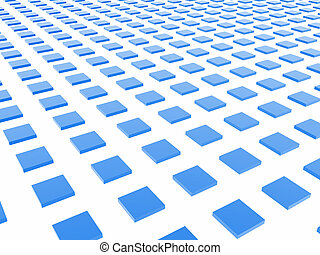 Blue Box Grid - A grid formed by shiny blue boxes.
