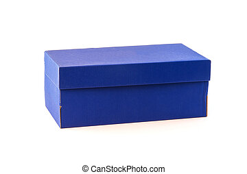 blue box isolated on white background