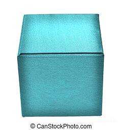 blue box isolated