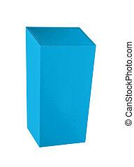 Blue box on white background