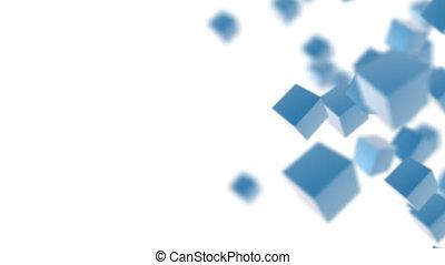 Blue boxes 3d background